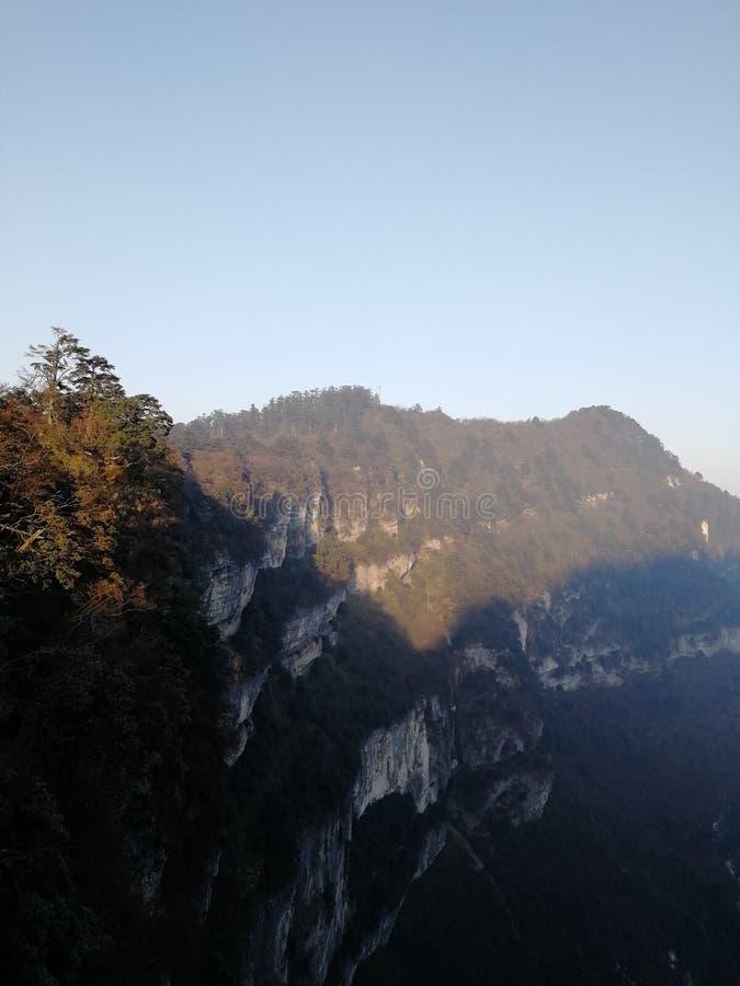 Bellezza di inverno del monte Emei, Sichuan, Cina fotografia stock libera da diritti