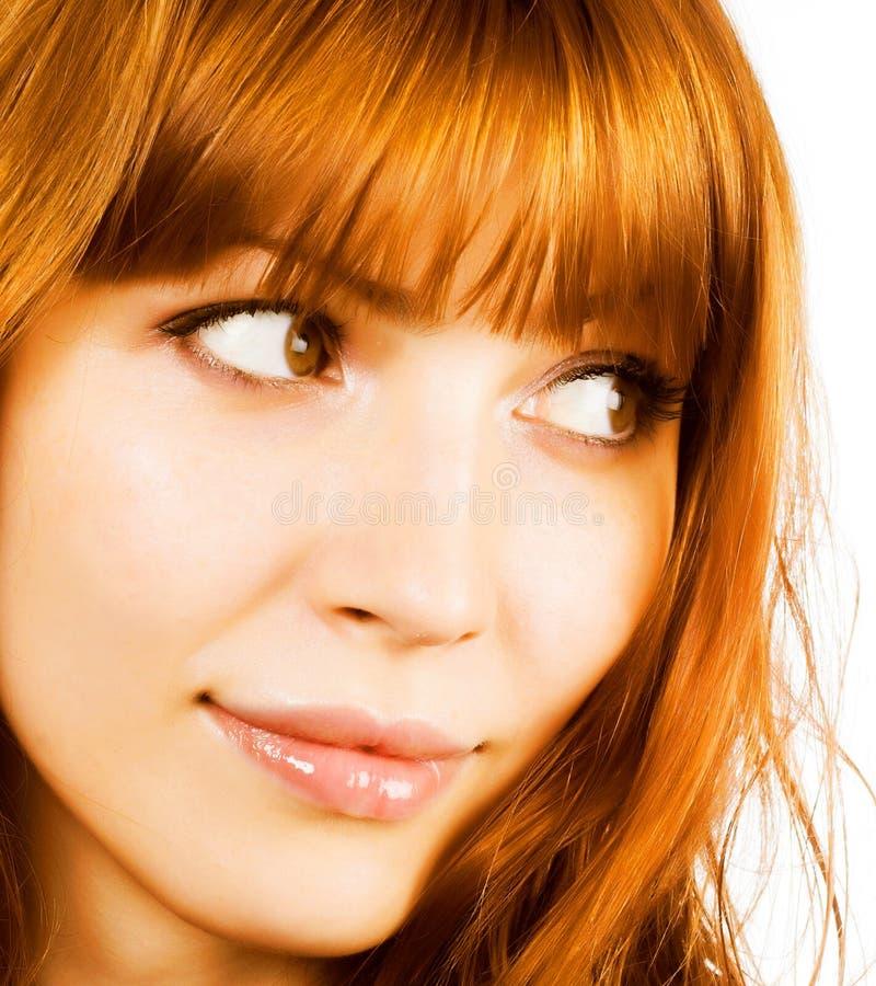 Bellezza di Redhair immagini stock