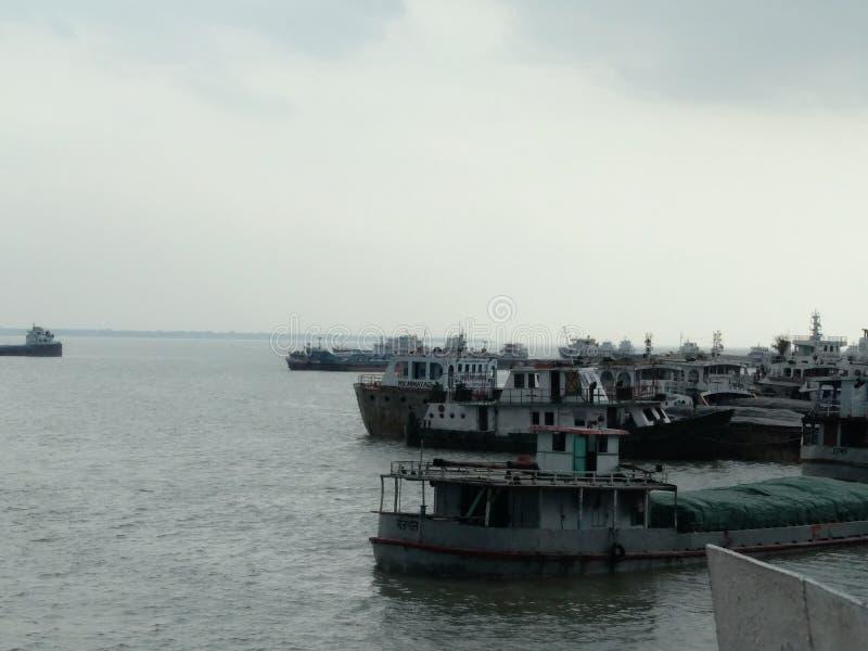Bellezza di riva in Bangladesh immagine stock libera da diritti