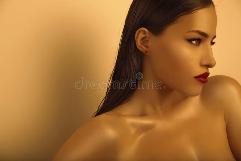 Bellezza dorata fotografia stock libera da diritti