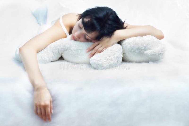 Bellezza-dorma fotografia stock