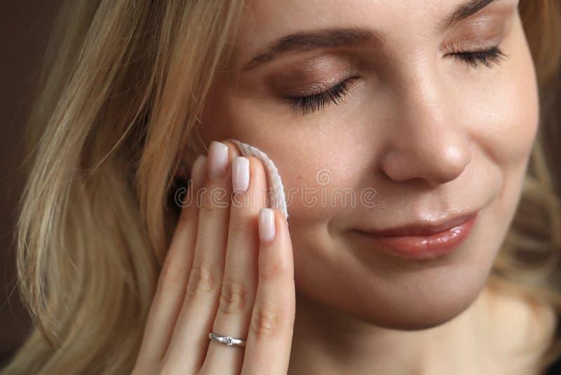 Bellezza femminile in primo piano fotografia stock