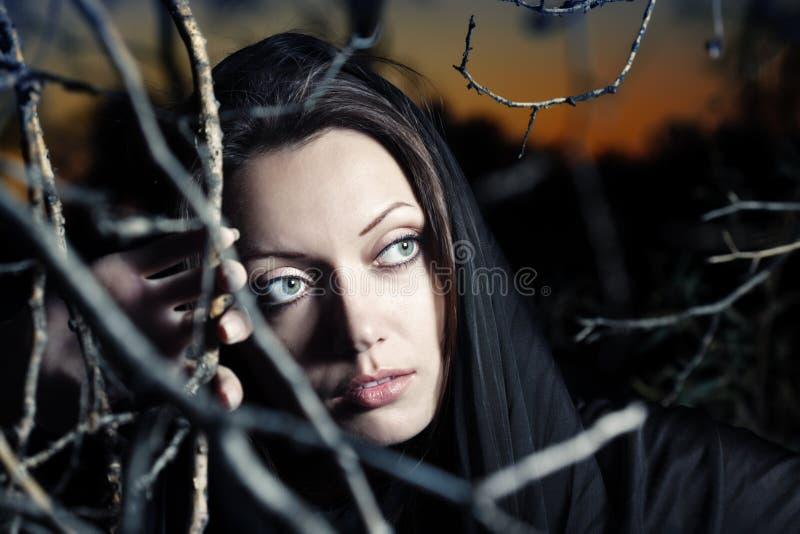 bellezza gotica fotografie stock