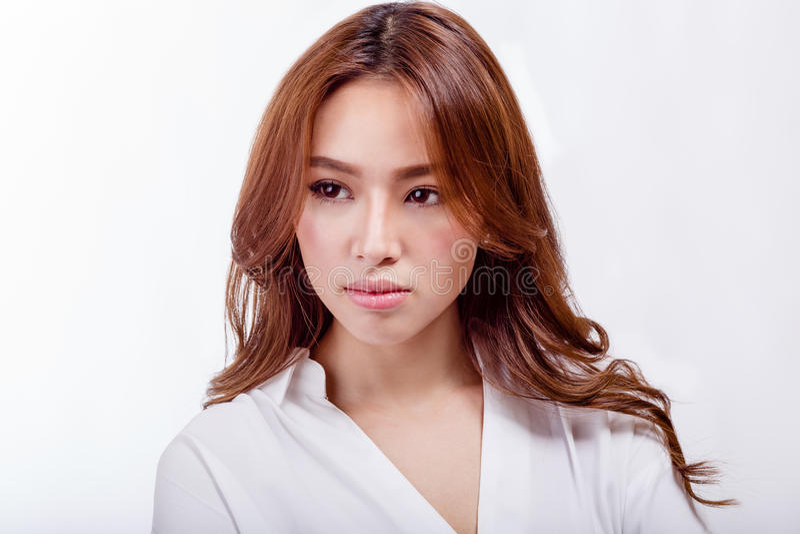 Bellezza sparata della donna americana asiatica immagini stock libere da diritti