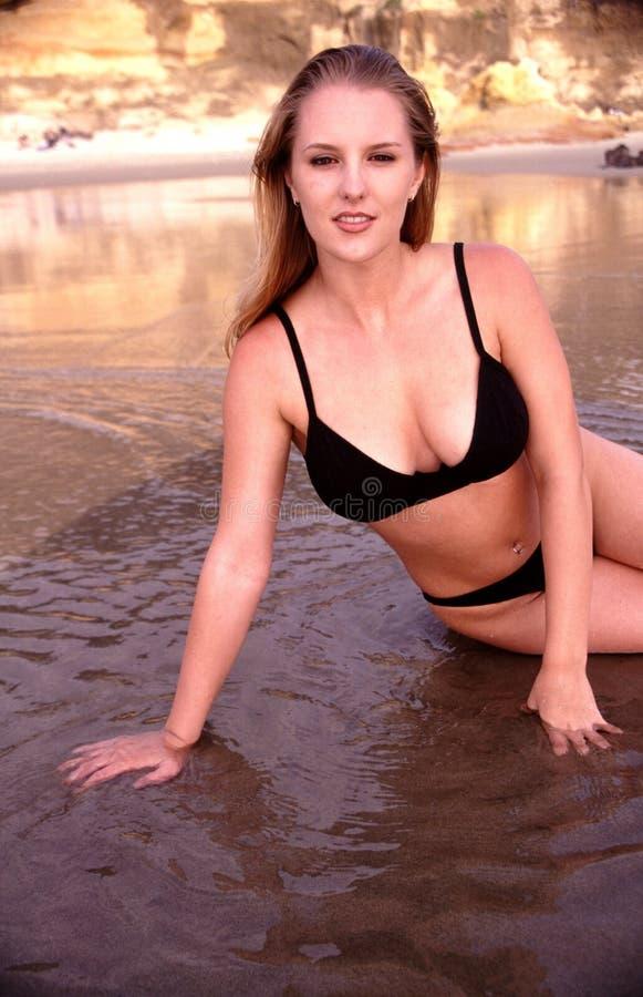 Bellezza sulla spiaggia fotografie stock