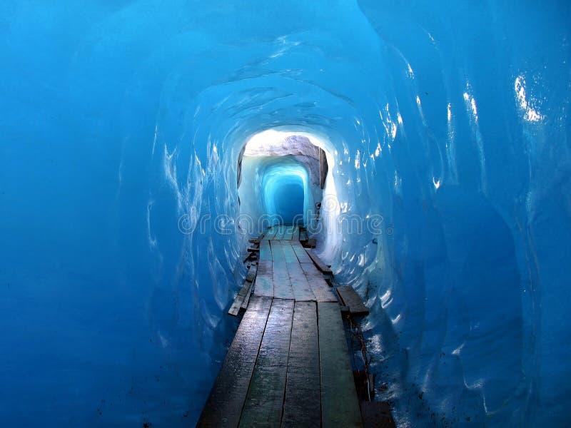 Bellezza svizzera, sotto il ghiacciaio del Rhone immagine stock