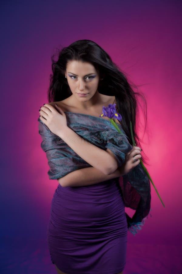 Bellezza viola fotografia stock libera da diritti