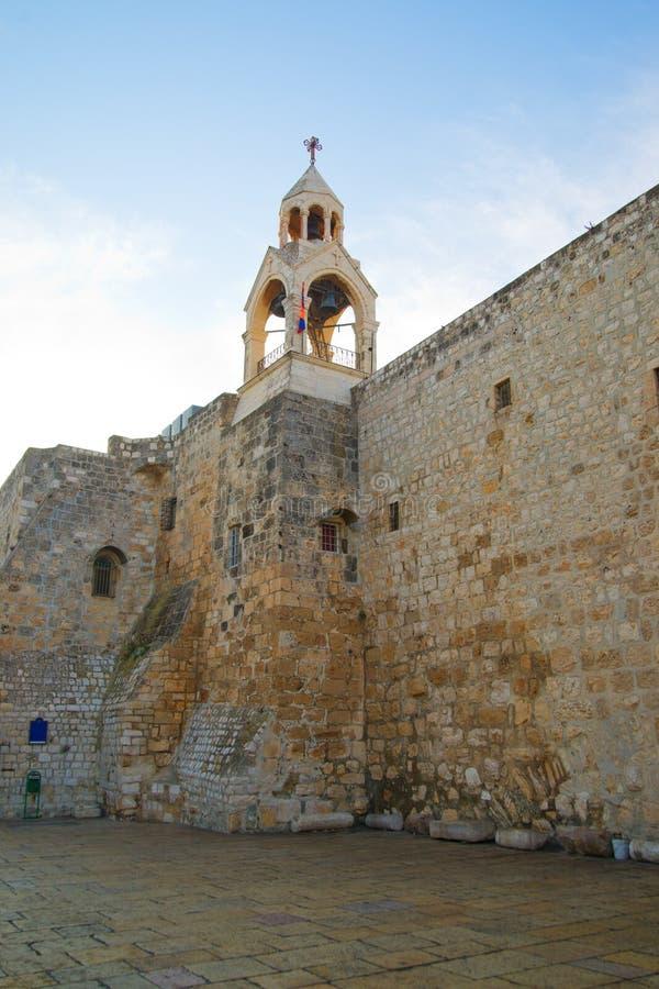 Bellfry de la iglesia de la natividad en Bethlehem fotografía de archivo libre de regalías