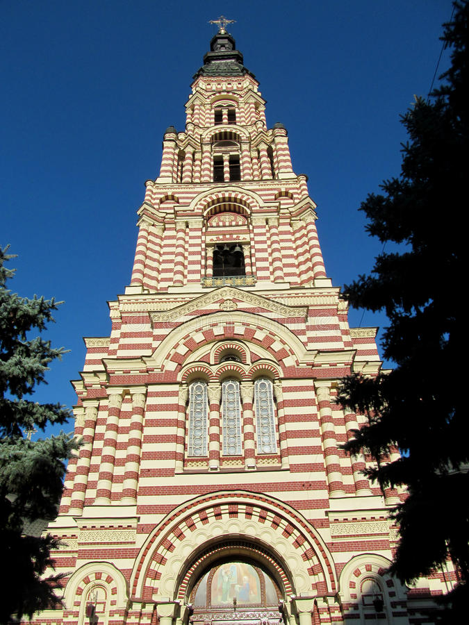 Bellfry en Lavra, iglesia ortodoxa, Ucrania fotografía de archivo