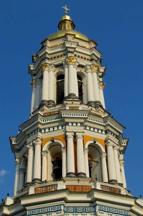 Bellfry en Lavra, Kiev, Ucrania imagenes de archivo