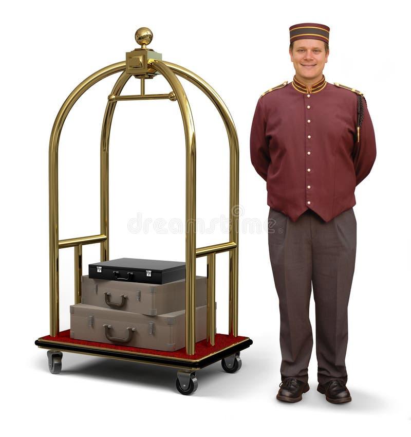 bellhop fury bagaż obraz royalty free