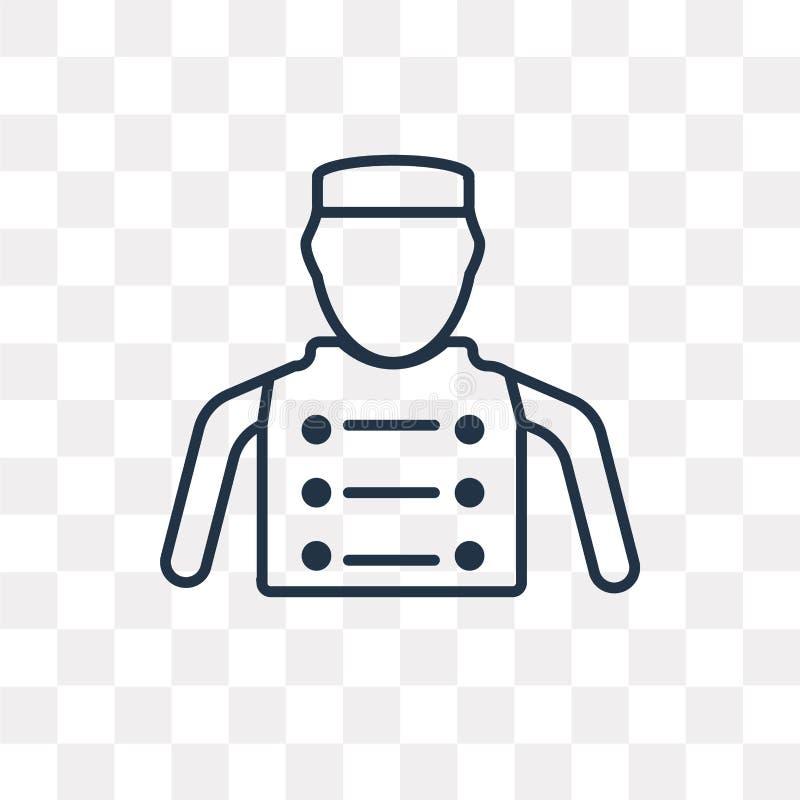 Bellhop wektorowa ikona odizolowywająca na przejrzystym tle, liniowy b ilustracji