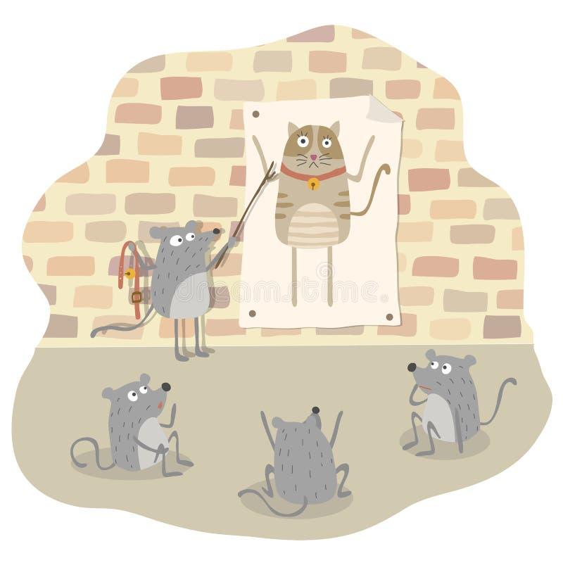 Belling le chat illustration de vecteur