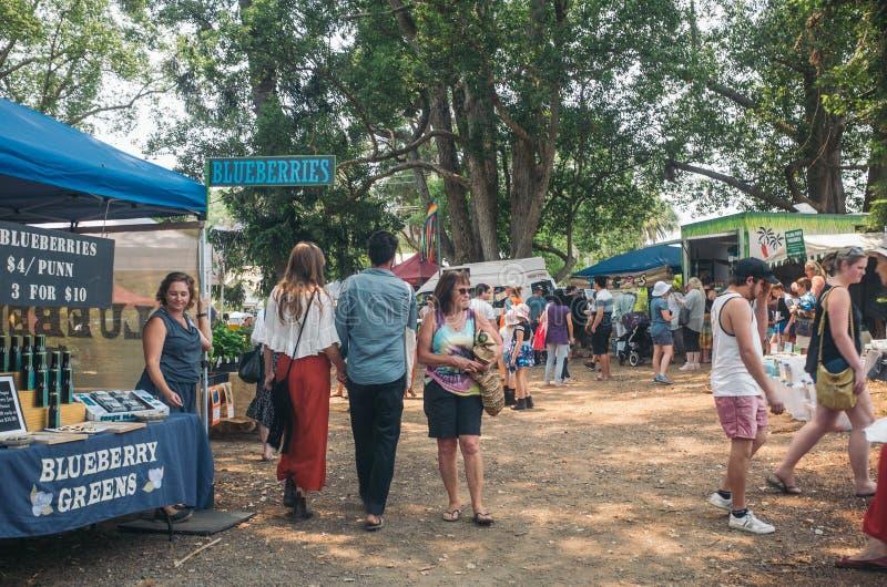 Bellingen valley town, NSW, Αυστραλία, 2019 Αγορές του Σαββάτου στοκ εικόνες