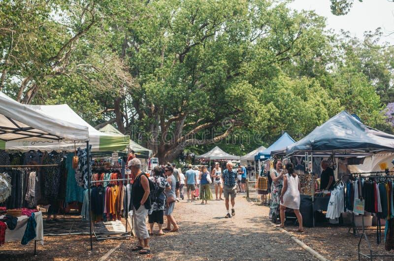 Bellingen valley town, NSW, Αυστραλία, 2019 Αγορές του Σαββάτου στοκ φωτογραφίες