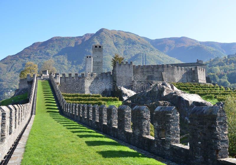Bellinzona, Zwitserland royalty-vrije stock foto
