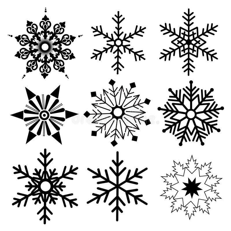 Bellissima Come Unica Snowflake semplice in progettazione retroattiva illustrazione di stock