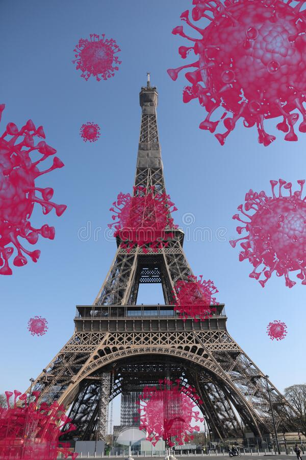 Bellissima foto della torre Eiffel a Parigi fotografie stock libere da diritti