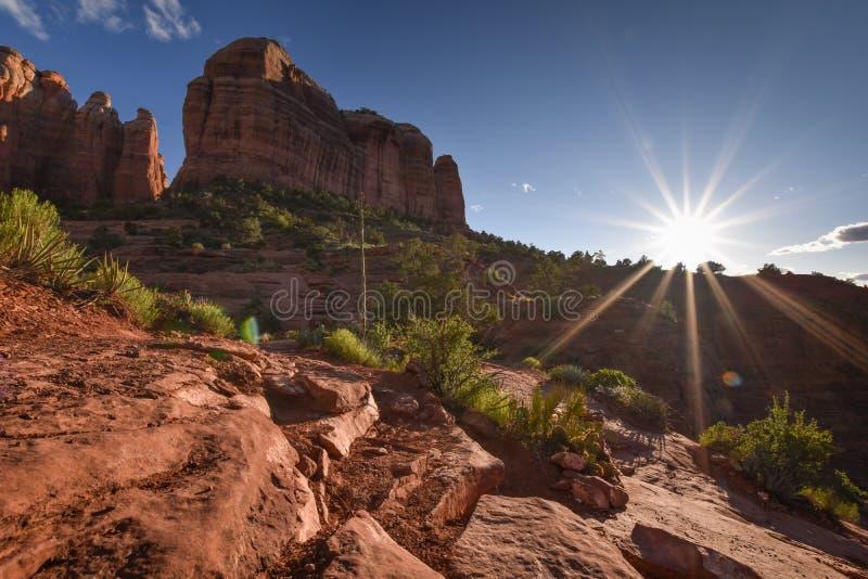 Bellissima natura a Sedona, città dell'Arizona Turismo negli Stati Uniti d'America fotografia stock