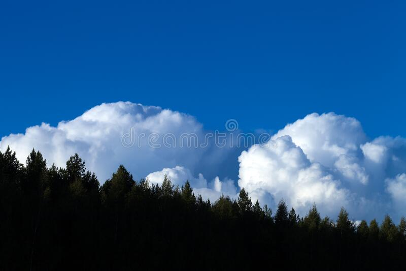Bellissime nuvole bianche sullo sfondo naturale del cielo azzurro fotografia stock libera da diritti