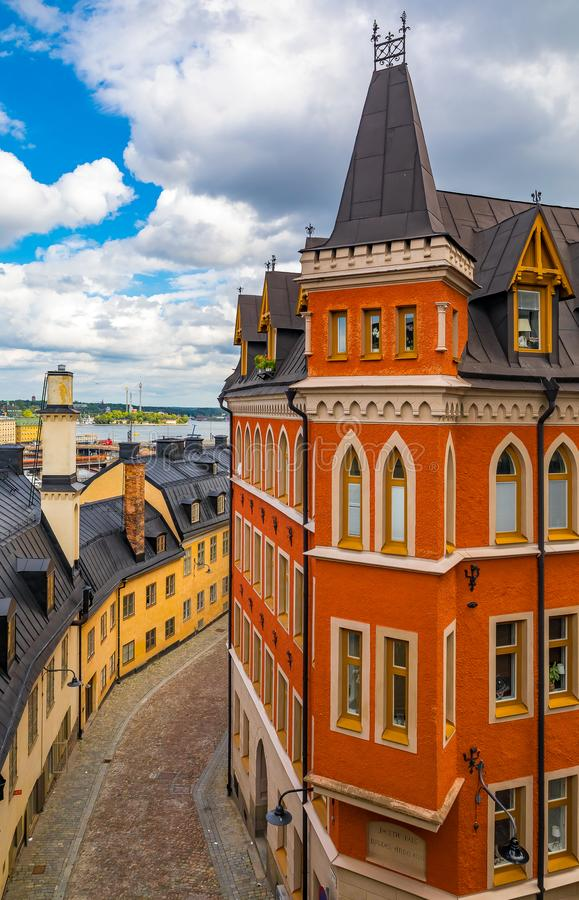 Bellmansgatan 1, строя с квартирой Mikael Blomkvist, ch стоковая фотография