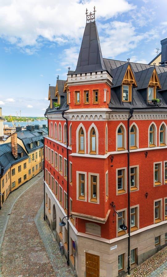 Bellmansgatan 1 bâtiment avec l'appartement du char de Mikael Blomkvist photos stock