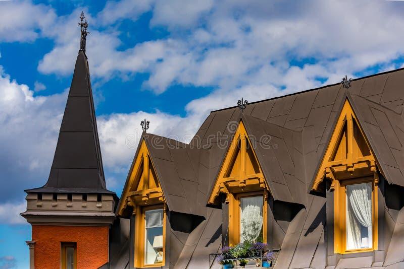 Bellmansgatan 1, construisant avec l'appartement de Mikael Blomkvist, ch photographie stock