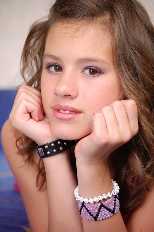Bello adolescente fotografia stock