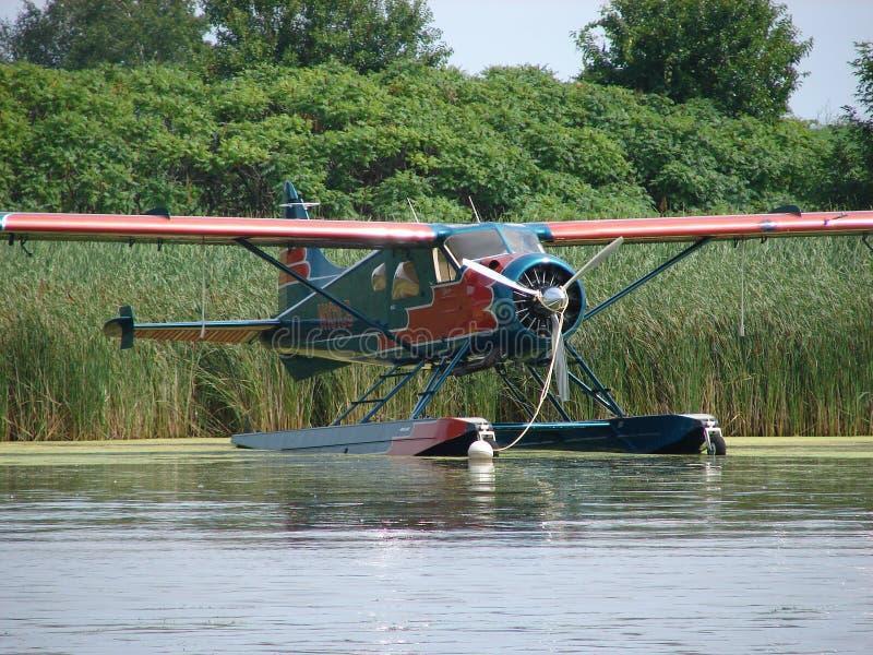 Bello aereo ristabilito del galleggiante del castoro di de Havilland DHC-2 fotografie stock