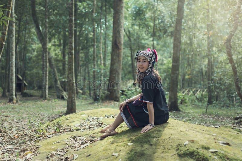 Bello akha della ragazza fotografie stock