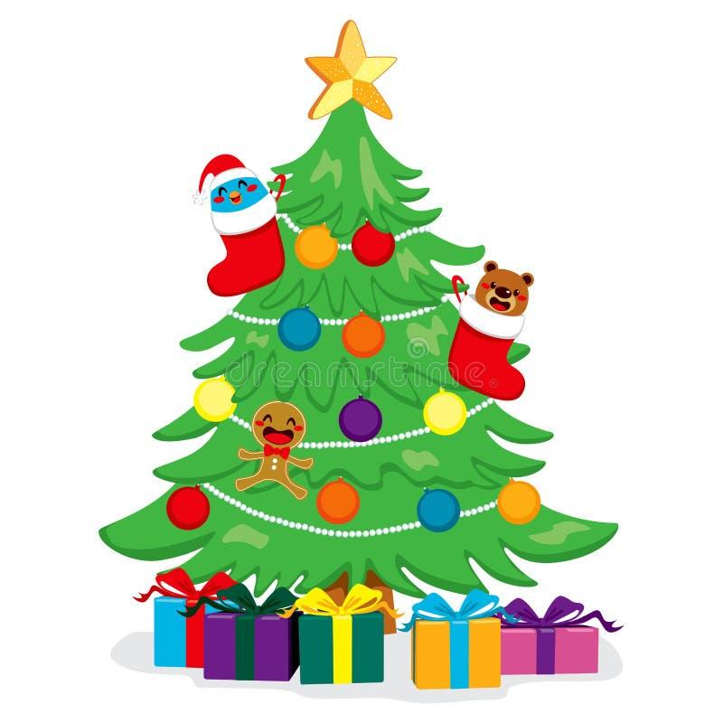 Bello albero di Natale royalty illustrazione gratis