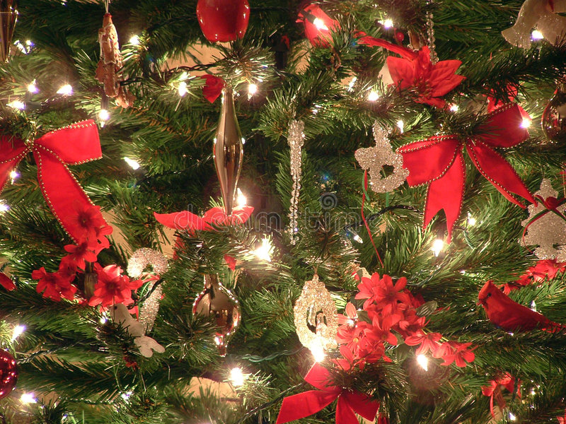 Bello albero di Natale immagini stock