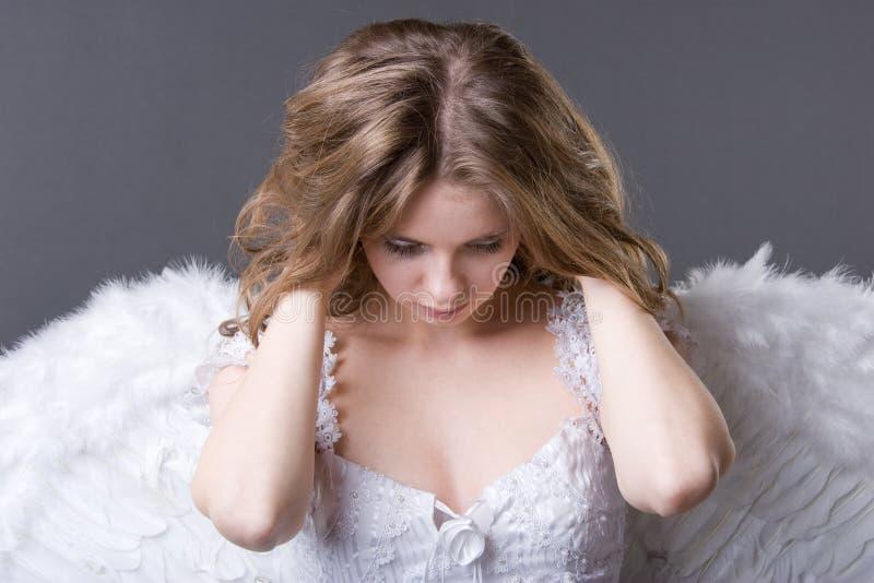 Bello angelo bianco fotografie stock