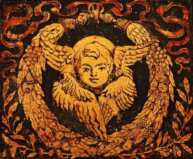 Bello angelo di natale dell'annata immagine stock