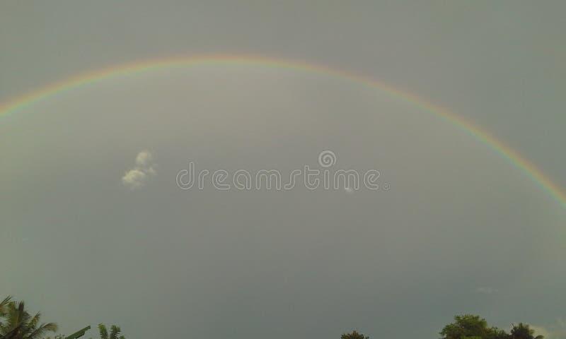 Bello arcobaleno multicoloured raro fotografia stock
