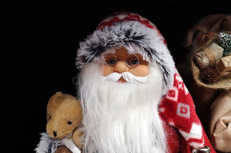 Bello Babbo Natale come primo piano giocattolo fotografia stock
