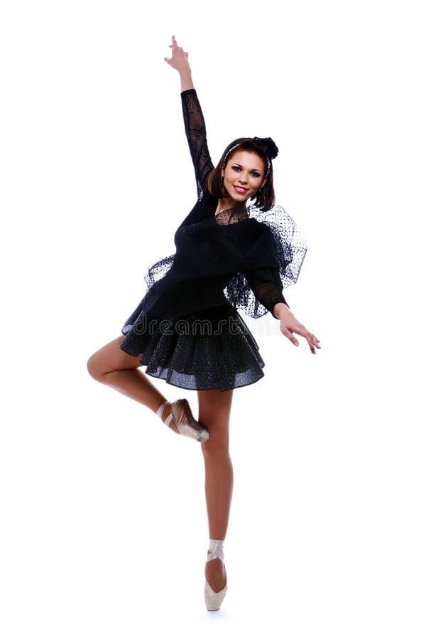 Bello ballo di balletto di dancing della ballerina fotografie stock