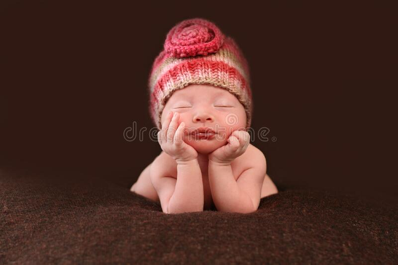 Bello bambino appena nato fotografie stock