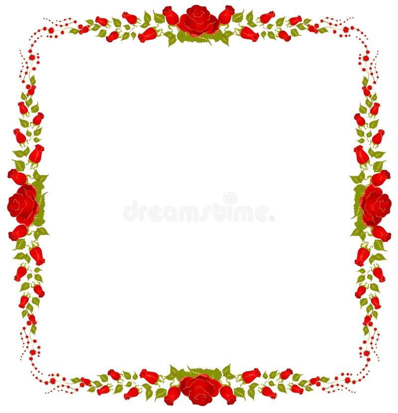 Bello blocco per grafici dalle rose illustrazione vettoriale