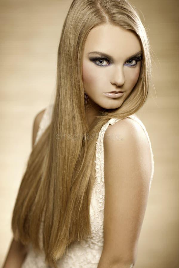 Bello blonde immagini stock