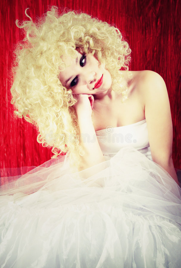 Bello blonde di upset immagini stock
