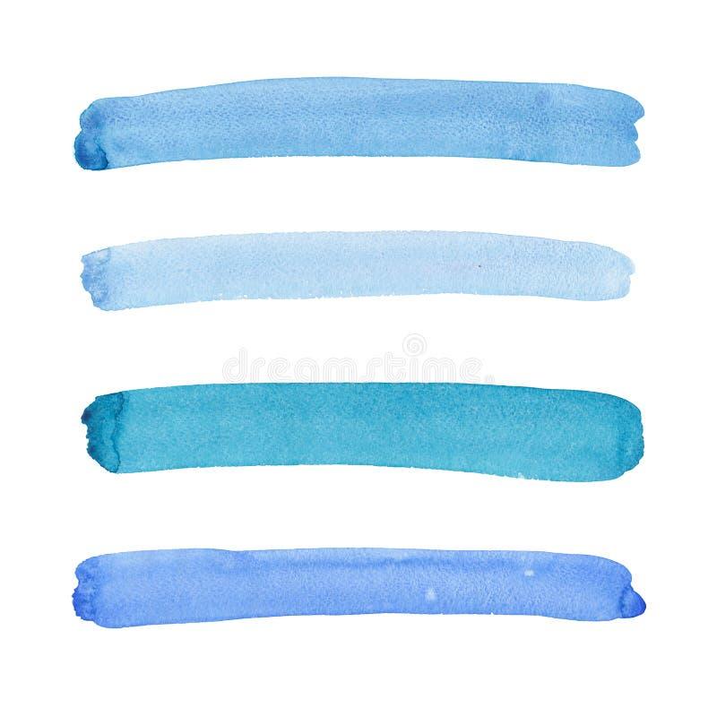 Bello blu artistico grafico elegante splendido meraviglioso astratto luminoso, turchese, linee orizzontali ultramarine dell'acque immagine stock
