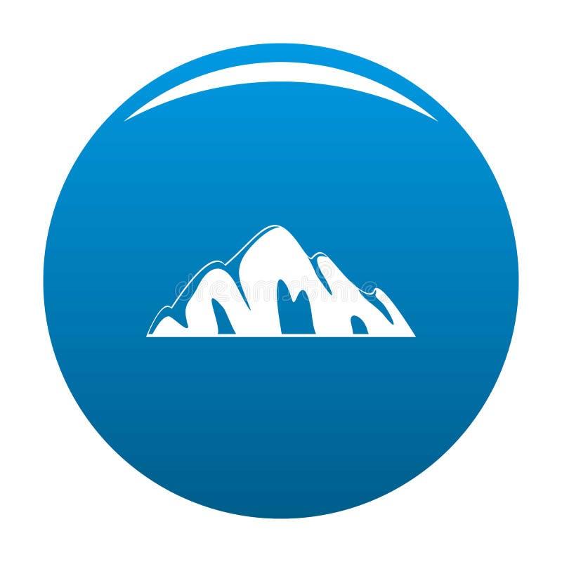 Bello blu dell'icona della montagna royalty illustrazione gratis