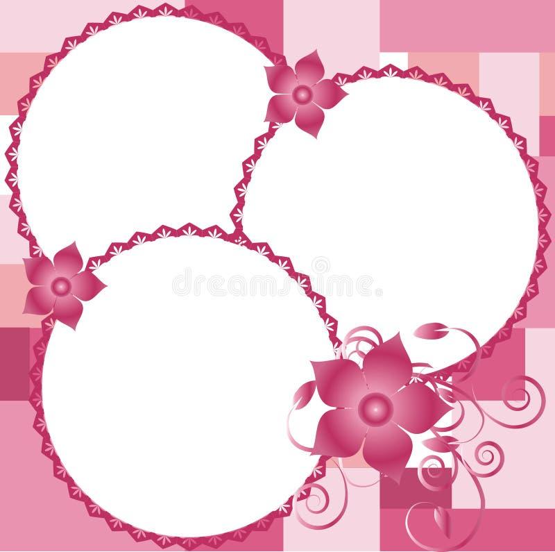 Bello bordo per le maschere con i fiori, vettore illustrazione vettoriale