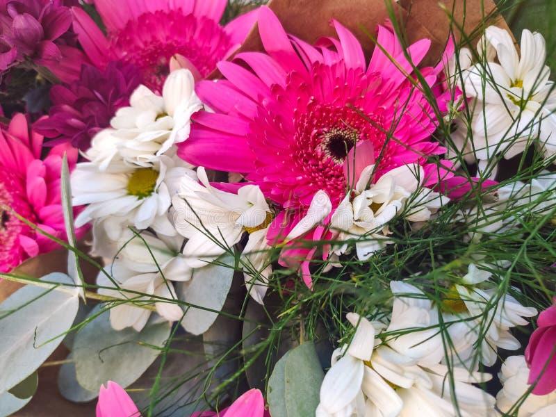 Bello bouquet di fiori colorati fotografia stock
