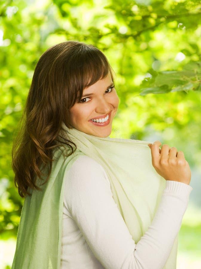 Bello brunette romantico fotografia stock libera da diritti