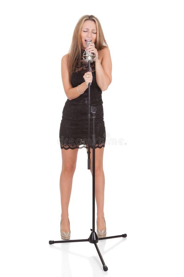 Bello cantante femminile immagine stock libera da diritti