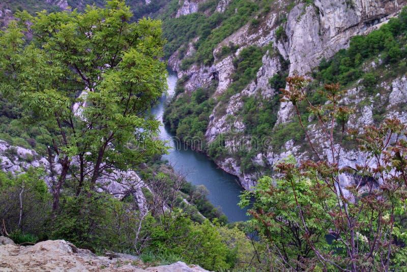 Bello canyon del fiume Nisava immagine stock libera da diritti