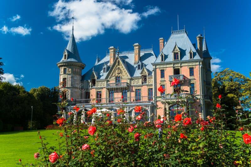 Bello castello di Schadau nella città di Thun immagine stock libera da diritti