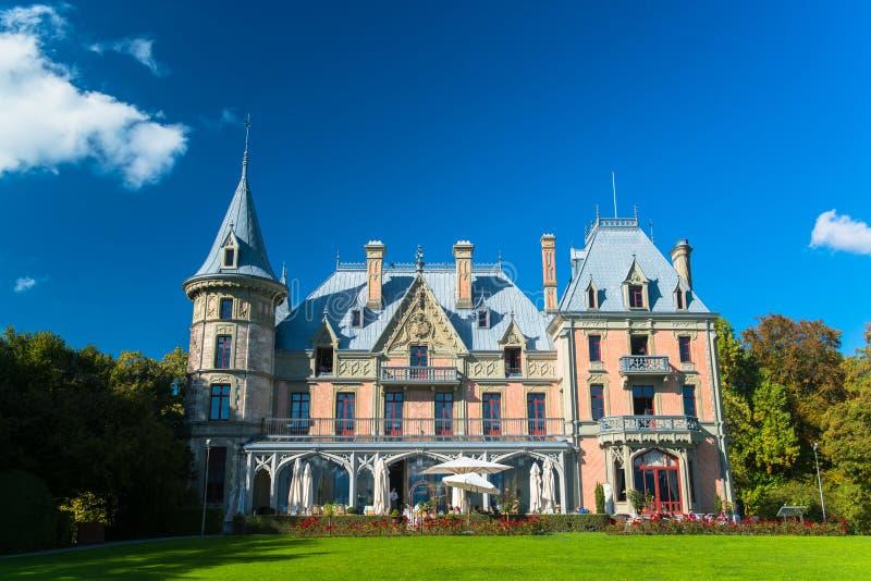 Bello castello di Schadau nella città di Thun fotografie stock libere da diritti